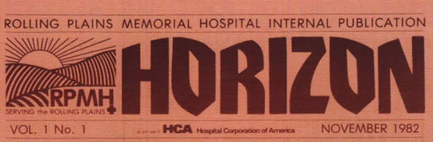 RPMH logo and masthead of their  in-house publication designed by  McCool.