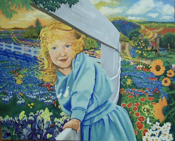 """God's Wild Creations"" 36""x24"" Oil Portrait and Landscape"